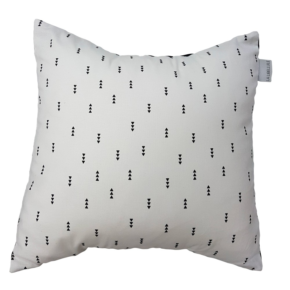 Coussin carré Collection Éden Blanc de Literie La Libellule-30