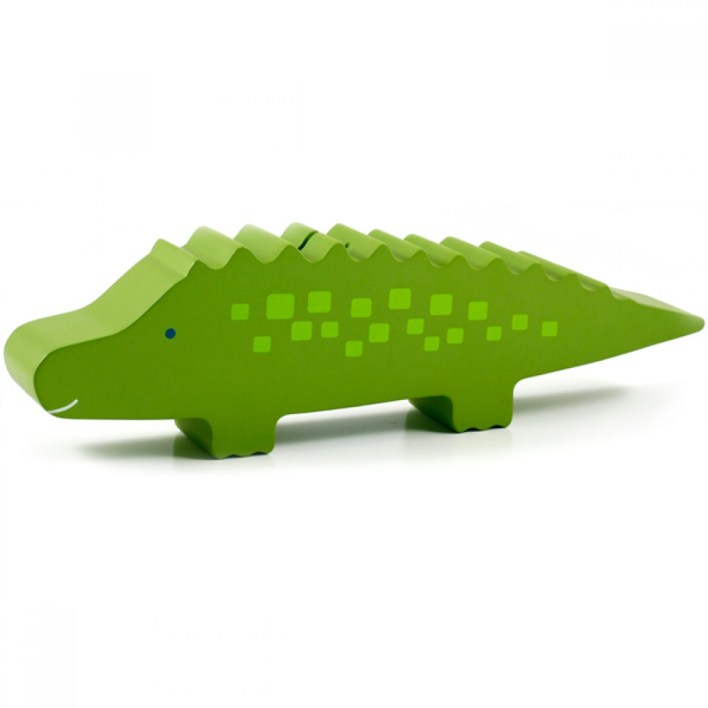 Tirelire en bois Alligator de Pearhead-30