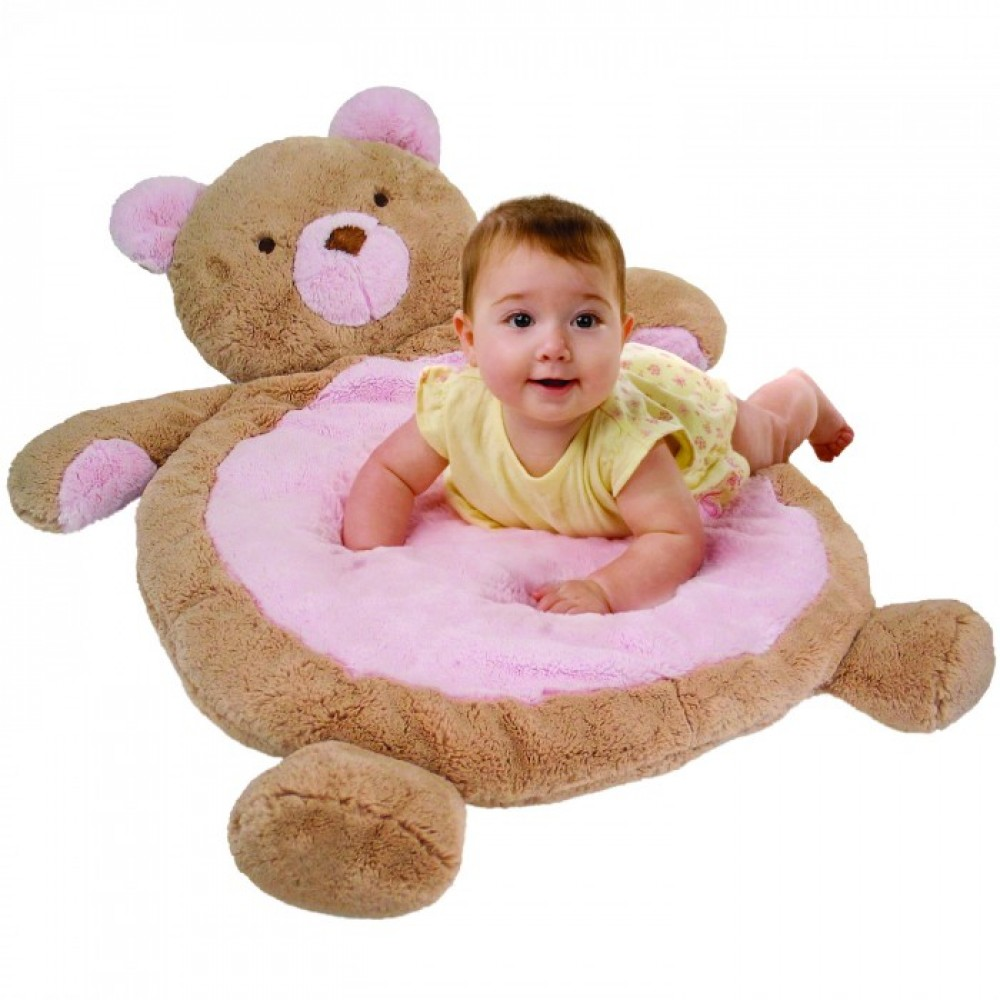 Great tapis peluche pour bb ourson rose de mary meyer with for Tapis ourson chambre bebe