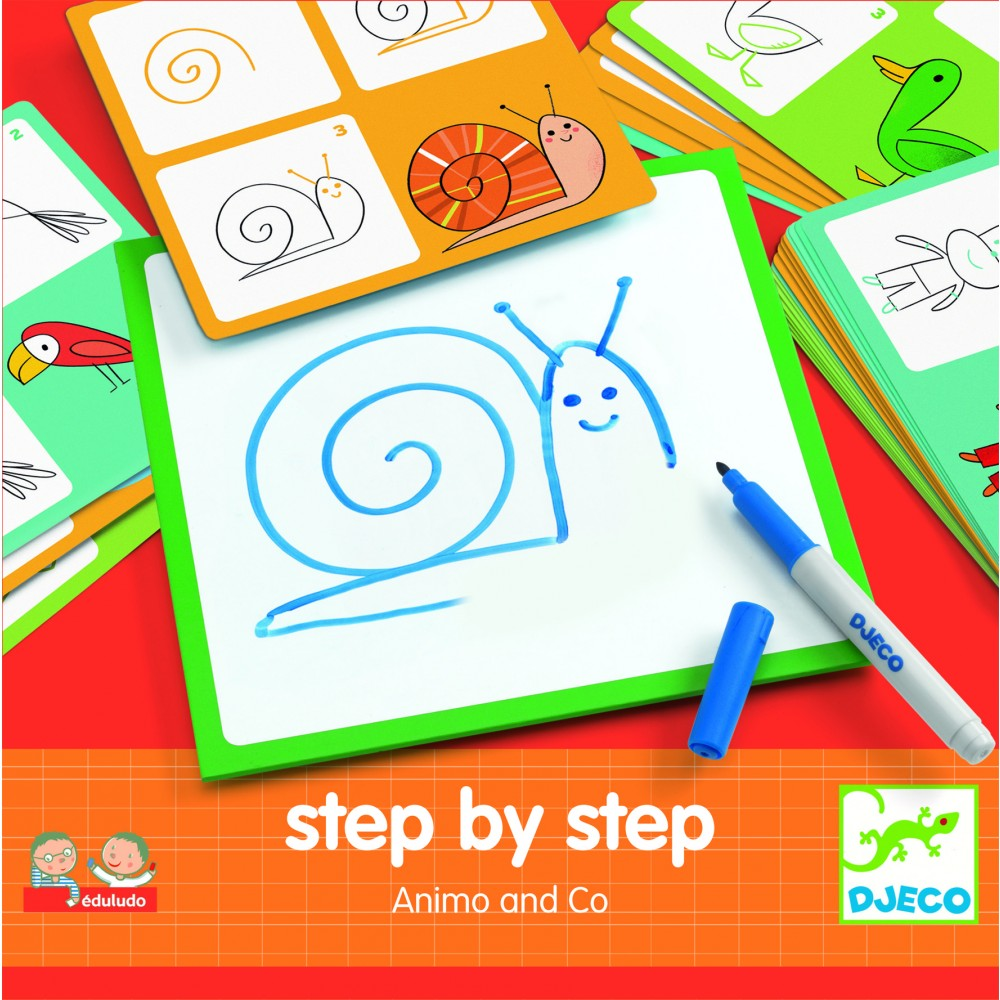 Eduludo - Step by step - Animaux