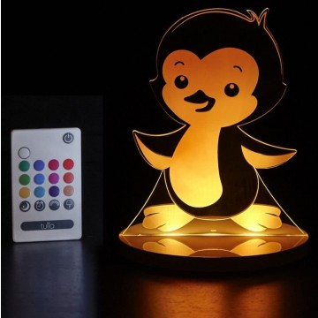 Veilleuse LED multicolore - Pingouin
