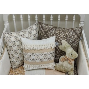 Coussin Taupe - Collection Anna