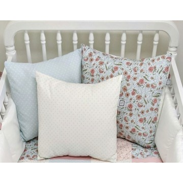 Coussin Blanc pois - Collection Flavie