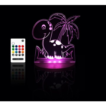 Veilleuse LED multicolore - Dino