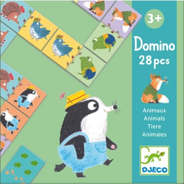 Domino 28 morceaux - Animaux
