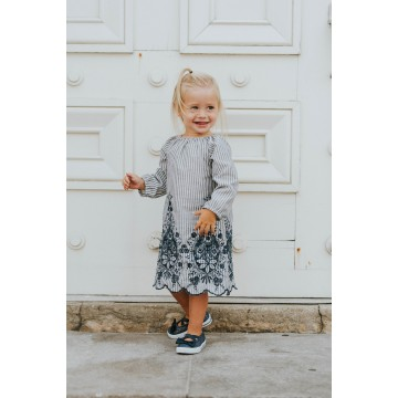 Robe tunique à broderie Marine de Little Joy by Mélissa Lajoie-26