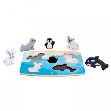 Puzzle - Tactile - Animaux polaires