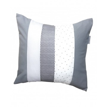 Coussin carré - Collection Gris & Blanc