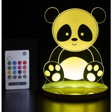 Veilleuse LED multicolore - Panda