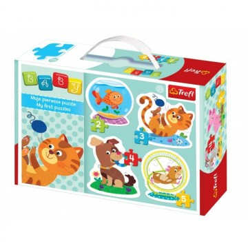 4 Puzzles - Animaux familiers