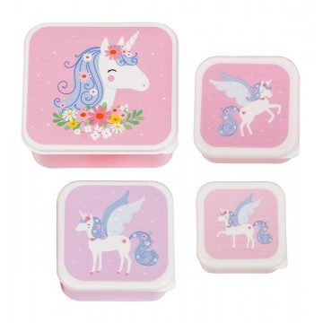 Contenants pour lunch et collations - Licorne