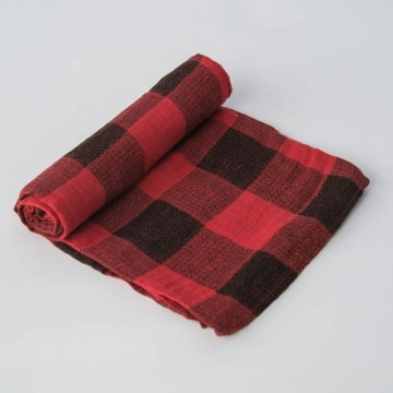 Couverture en mousseline de coton - Red Plaid