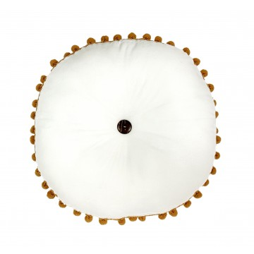 Coussin Rond Pompom - Collection Jeanne