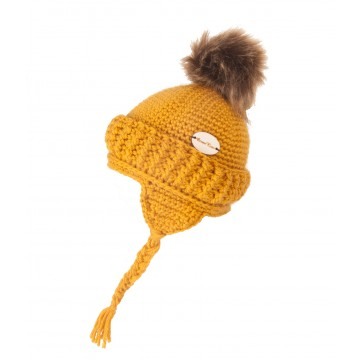Tuque au crochet - Or-3-5 ans