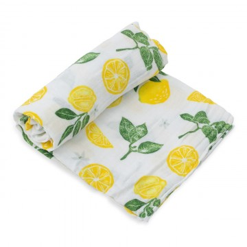Couverture en mousseline de coton - Lemon Drop