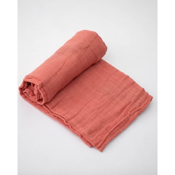 Couverture en mousseline de coton - Dusty Rose